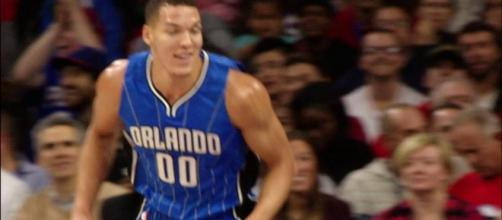 Aaron Gordon scored 19 points for the Magic in a 93-90 preseason win over Miami on Saturday. [Image via NBA/YouTube]
