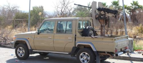 An ISIS armed vehicle. Image - CC Public Domain   Pixabay