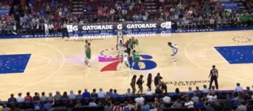 Boston Celtics vs Philadelphia Sixers on October 6, 2017 NBA Preseason [Ximo Pierto/YouTube]