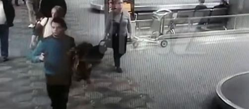 CCTV footage of the moment Esteban Santiago started shooting after collecting his gun from the airline desk [Image credit ABC News/YouTube]