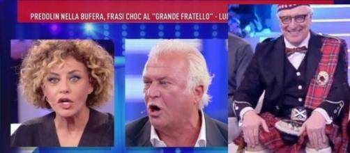 Da sinistra Eva Grimaldi, Marco Predolin e Alberico Lemme