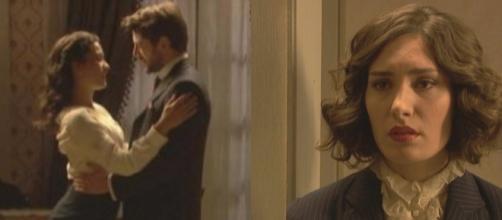 Il Segreto, anticipazioni dicembre: Hernando tra le braccia di Lucia, Camila li spia