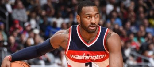 John Wall and the Wizards host the Cleveland Cavs in Sunday's preseason action. [Image via NBA/YouTube]