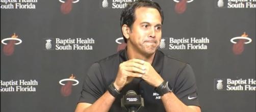 Miami Heat coach Erik Spoelstra is satisfied with his team's performance -- FOXSportsFlorida FOXSportsSun via YouTube