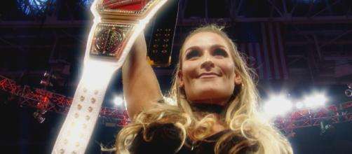 Natalya defends the WWE 'SmackDown' Women's Championship against Charlotte at Sunday's WWE 'Hell in a Cell' PPV. [Image via WWE/Youtube]