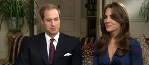 Prince William and Kate Middleton will not include Prince Harry as a godparent to their third baby. [Image via ODN, YouTube]