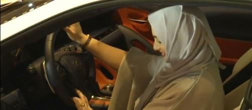 Saudi women are excited to start buying their own cars after the driving law changes [Image: YouTube/Times of Oman]