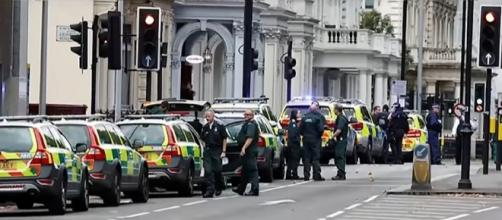The driver of a car that injured 11 people in London has been questioned and released [Image: YouTube/Fox News]