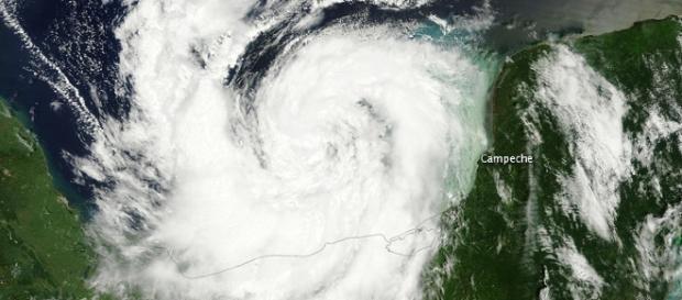 Hurricane Nate (Image Courtesy NASA earth observatory)