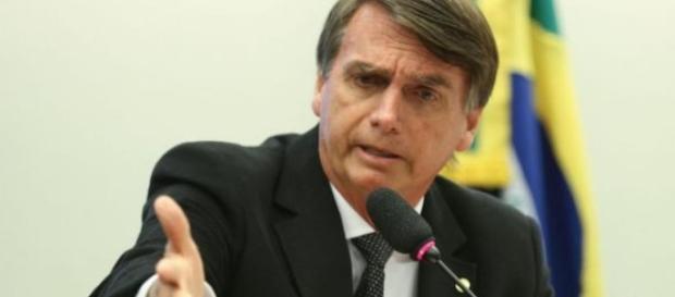 Jair Bolsonaro em seu discuro nos EUA