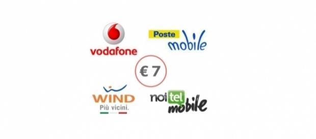 Offerte Vodafone, Wind, Noitel, Postemobile a 7 euro - ottobre 2017