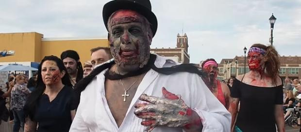 Saturday was World Zombie Day with the undead taking over the streets of many cities [Image credit NJ.com/YouTube]