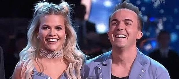 "Witney Carson and Frankie Muniz on ""DWTS"" [Image: Anna Marie/YouTube screen shot]"