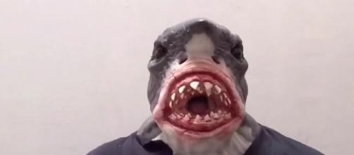 A man in a shark mask (not the one pictured) got in trouble with the police due to the burqa ban [Image credit: immortalmasks/YouTube]