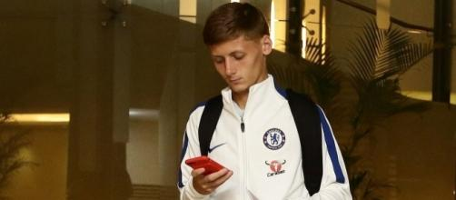 Chelsea youngster Kyle Scott earlier on this season