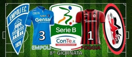 L'Empoli ha battuto 3-1 il Foggia nell'ottava giornata del campionato di Serie B ConTe.it 2017/18