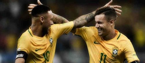 Neymar y Coutinho, inseparables en Brasil - foottheball.com