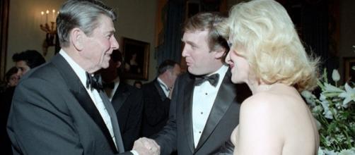 Reagan with Donald and Ivana Trump/photo via Wikimedia commons