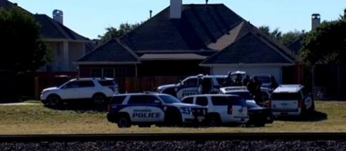 Richardson, TX, police on-scene at Sherin Mathews' family home. (Image from WFAA/YouTube)