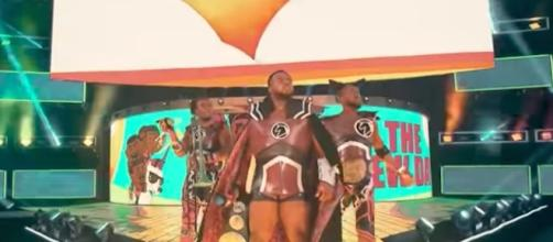The New Day put their 'SmackDown' tag team titles on the line at 'Hell in a Cell 2017' PPV. [Image via WWE/YouTube]