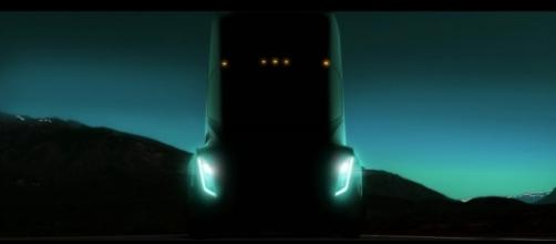 The Tesla electric truck must stay in shadow for another month after its reveal event is delayed until November.   Credit (Inverse/YouTube)