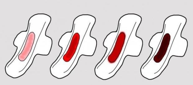 Alterações na cor do sangue menstrual podem indicar um problema