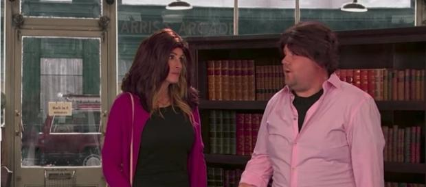 Julia Roberts e James Corden, screenshot da youtube
