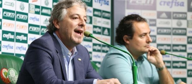 Paulo Nobre, ex-presidente, e Alexandre Mattos, executivo de futebol do Palmeiras