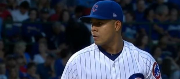 Quintana pitching against the Cardinals - (Image Credit- Today Sports / Youtube)