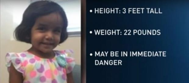 Sherin Matthews, missing in Richardson, TX. (Image from KCENTV/YouTube)