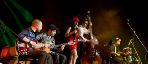 """""""Faralae"""" es una de las bandas más esperadas en el Festival Jazz-Mex por su sonido estrafalario. Foto: Cenart."""