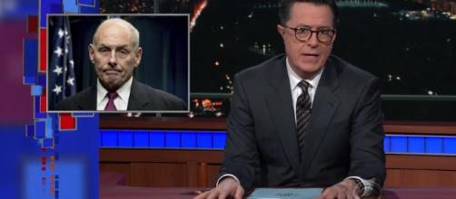 Stephen Colbert talks about John Kelly Image credit: The Late Show with Stephen Colbert/YouTube