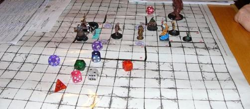 The picture show the map of a Dungeons and Dragons game [image source:Moroboshi / Wikimedia Commons]