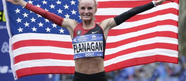 Marblehead Native Shalane Flanagan Wins NYC Marathon. (Image Credit: WBUR News/Youtube Screencap)