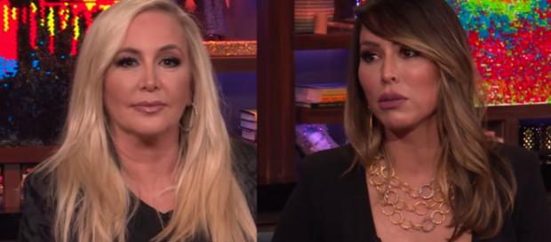 Shannon Beador and Kelly Dodd's marital issues revealed in 'RHOC' season finale. [Image via Watch What Happens Live/YouTube]