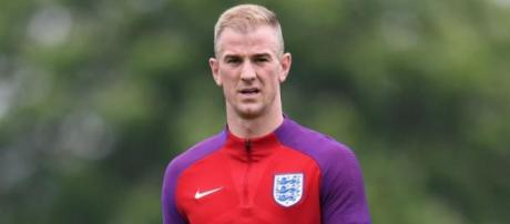 England goalkeeper Joe Hart while training with his national team in the past. (Image Credit :hfs Tga/Flickr)