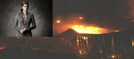 Incêndio atingiu galpão que servia de apoio para gravação de Deus Salve o Rei
