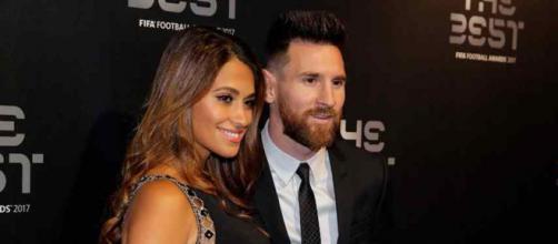 Antonella Roccuzzo com Leo Messi
