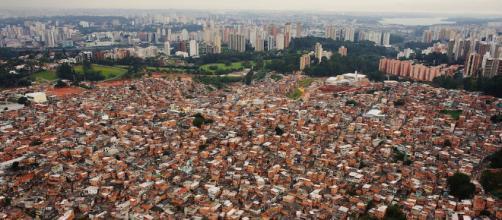Favela de Paraisópolis em São Paulo é uma das maiores do Brasil