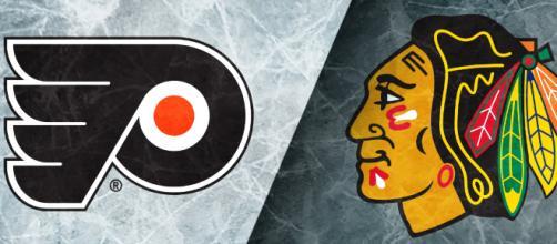 Philadelphia Flyers vs Chicago Blackhawks -- YouTube screen capture / ESPN