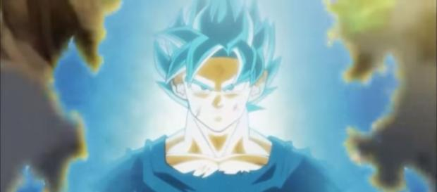 Goku in Super Saiyan Blue form (via YouTube - Dragon Ball Episodes)