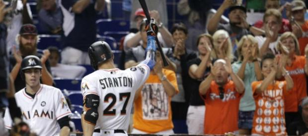 Is Giancarlo Stanton done in Miami? [Image via Sportsnet/YouTube]