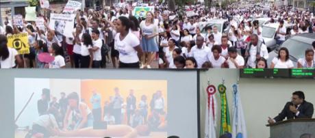 'Marcha da Inocência' ataca 'sexualização infantil' em Itabira