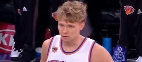 Mindaugas Kuzminskas averaged 6.3 points last season with Knicks (Image Credit: FreeDawkins/YouTube)