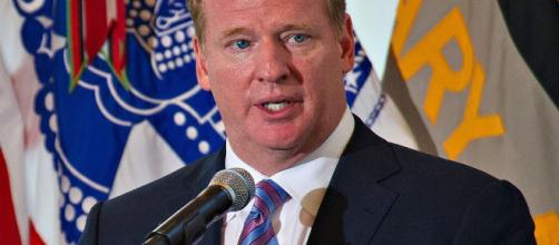 NFL Commissioner Roger Goodell in better days...photo credit SSG Teddy Wade, U.S. State Dept. via Wikimedia Commons