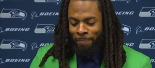 Richard Sherman is out for the season. -- YouTube screen capture / Seattle Seahawks