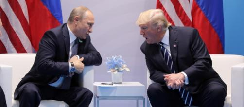 U.S., Russia Offer Conflicting Accounts of Trump-Putin Meeting . screen shot YouTube.
