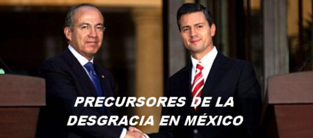 Calderón y Peña Nieto dejan a México en desgracia en sólo dos sexenios.
