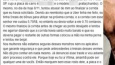 Motorista de Uber abusa de mulher após corrida custar R$ 0,75: 'para compensar'