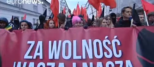 60,000 join Polish independence day march - Image credit - Euro News | YouTube